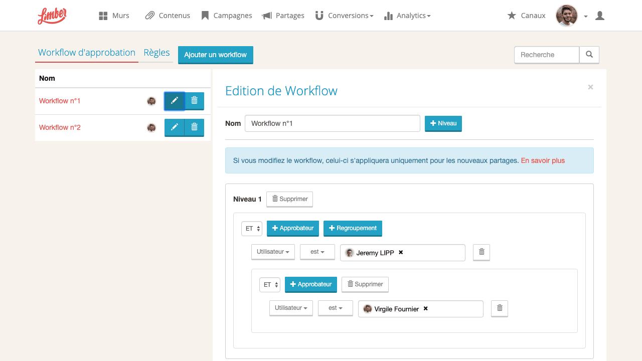 Workflows de validation